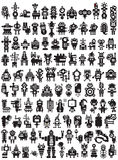 Big set of icons with monsters and robots. Stock Image