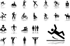 Big set icons - 33. Pictographs of people Stock Images