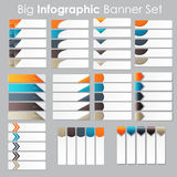 Big Set of Infographic Banner Templates for Your Royalty Free Stock Images