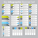 Big Set of Infographic Banner Templates for Your Business Vector Stock Photo
