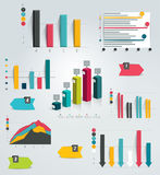 Big set of infographic charts. Royalty Free Stock Photos