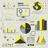 Big set of infographic elements for business. Stock Image