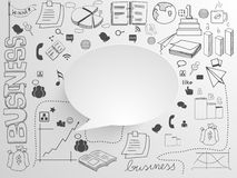 Big set of infographic elements. A big set of various business infographic elements with blank speech bubble on grey background Stock Photos