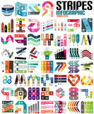 Big set of infographic modern templates - lines Royalty Free Stock Photo