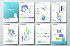 Big set of infographic vector elements and business brochures Royalty Free Stock Photo
