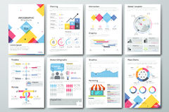 Big set of infographic vector elements and business brochures Royalty Free Stock Image