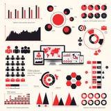 Big set of infographics elements. EPS10. Royalty Free Stock Photos