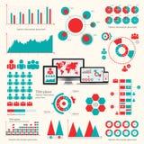 Big set of infographics elements. EPS10. Royalty Free Stock Photo