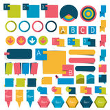 Big set infographics flat design buttons,elements, charts, buttons. Royalty Free Stock Images