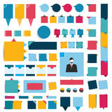 Big set of infographics flat design elements, buttons, stickers. Stock Image