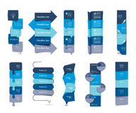 Big set of infographics step by step vertical tables, elements, schedules, banners, charts. Stock Photography