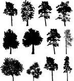 Big set isolated trees - 2 vector illustration