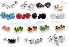 Big set jewel mix - Earrings Royalty Free Stock Image