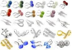 Big set jewel mix - Earrings Royalty Free Stock Photo
