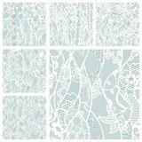 Big set of lace vector fabric seamless patterns. Big set of lacy seamless patterns. Vector illustration Stock Photography