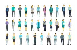 Big set a lot of people bundle in line crowd many persons. Stock vector illustration. Big set a lot of people bundle kit in line clerks many crowd. The company stock illustration