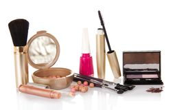 Big set of makeup Royalty Free Stock Photography