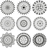 Big set of  mandala Stock Image