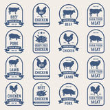 Big set of meat labels 001 Stock Images