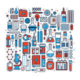 Big set of medical design elements and icons.  Royalty Free Stock Photo