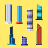 Big set of modern buildings, multi-storey, skyscrapers. Vector illustration. Big set of modern buildings, multi-storey, modern skyscrapers. Vector illustration vector illustration