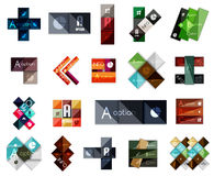 Big set of modern business square templates Royalty Free Stock Images