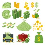 Big set of money Royalty Free Stock Photos