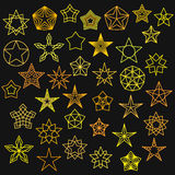 Big Set of Monoline Star Icons Royalty Free Stock Photography