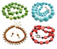 Big set with necklaces Royalty Free Stock Images