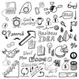 Big set od business doodles, hand drawn icons. Stock Image