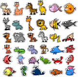 Big Set Of Cartoon Animals,vector Stock Images