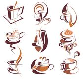 Big SET Of Coffee,tea Elements Royalty Free Stock Images