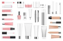 Free Big Set Of Cosmetic Containers And Bottles Royalty Free Stock Photos - 64158498