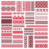 Big Set Of Embroidery Patterns Stock Photography