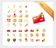 Big Set Of Icons: PART 1 - See Parts 2 And 3 Stock Photography