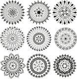 Big Set Of Mandala Stock Image