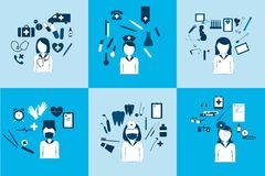 Free Big Set Of Vector Icons Of  Avatars Different Doctors. Stock Photos - 60528463