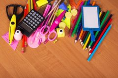 Big set of office tools Royalty Free Stock Photo