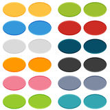 Big set of 16 oval buttons in 2 positions. Normal and on click (pushed royalty free illustration