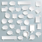 Big Set Paper Communication Bubbles Shadows Royalty Free Stock Image