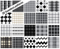 Big set patterns, plaid style , pattern swatches included for il Royalty Free Stock Photos