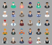 Big set of people avatars with different occupation. Employee and work Royalty Free Stock Photo