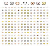 Big set 210 pieces emotions isolated. Stock Photo