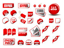 Big set of price tags. Large set of different sale tags - Vector format included Stock Photos