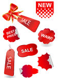 Big set of  price tags Stock Images