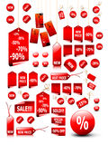 Big set of price tags vector illustration