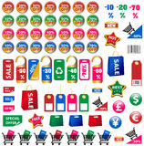 Big set of price tags and stickers. Big set of price tags, stickers, labels Stock Images