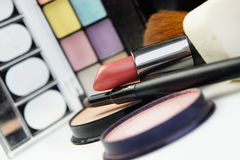 Lipstick and decorative cosmetic Stock Photography