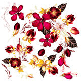 Big set of realistic vector flowers for design Royalty Free Stock Images