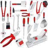 Big set of red construction tools Stock Photography